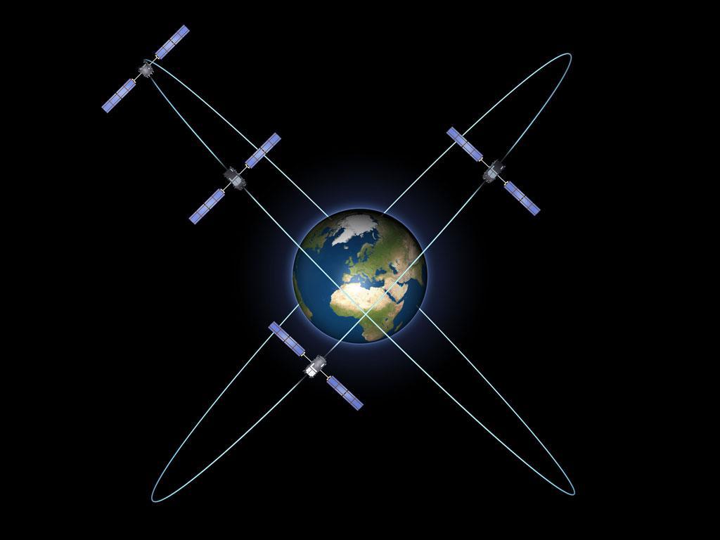 Το Gallileo με τους πρώτους τέσσερις δορυφόρους  ©ESA - P. Carril
