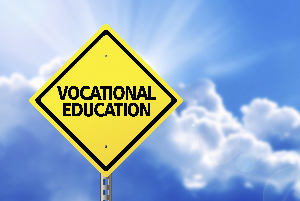 Sign with vocational education