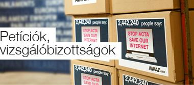 Petíciók, vizsgálóbizottságok