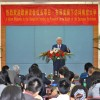 President Buzek delivers a keynote speech at the University of Nanjing