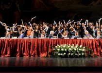 EP President Buzek with the 2010/2011 graduates of the European College of Parma