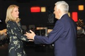 EP President Jerzy Buzek is welcomed by Danish Prime Minister Helle Thorning-Schmidt at the Danish Presidency opening
