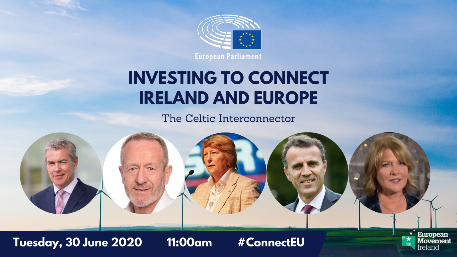 picture of 5 speakers at Celtic interconnector event