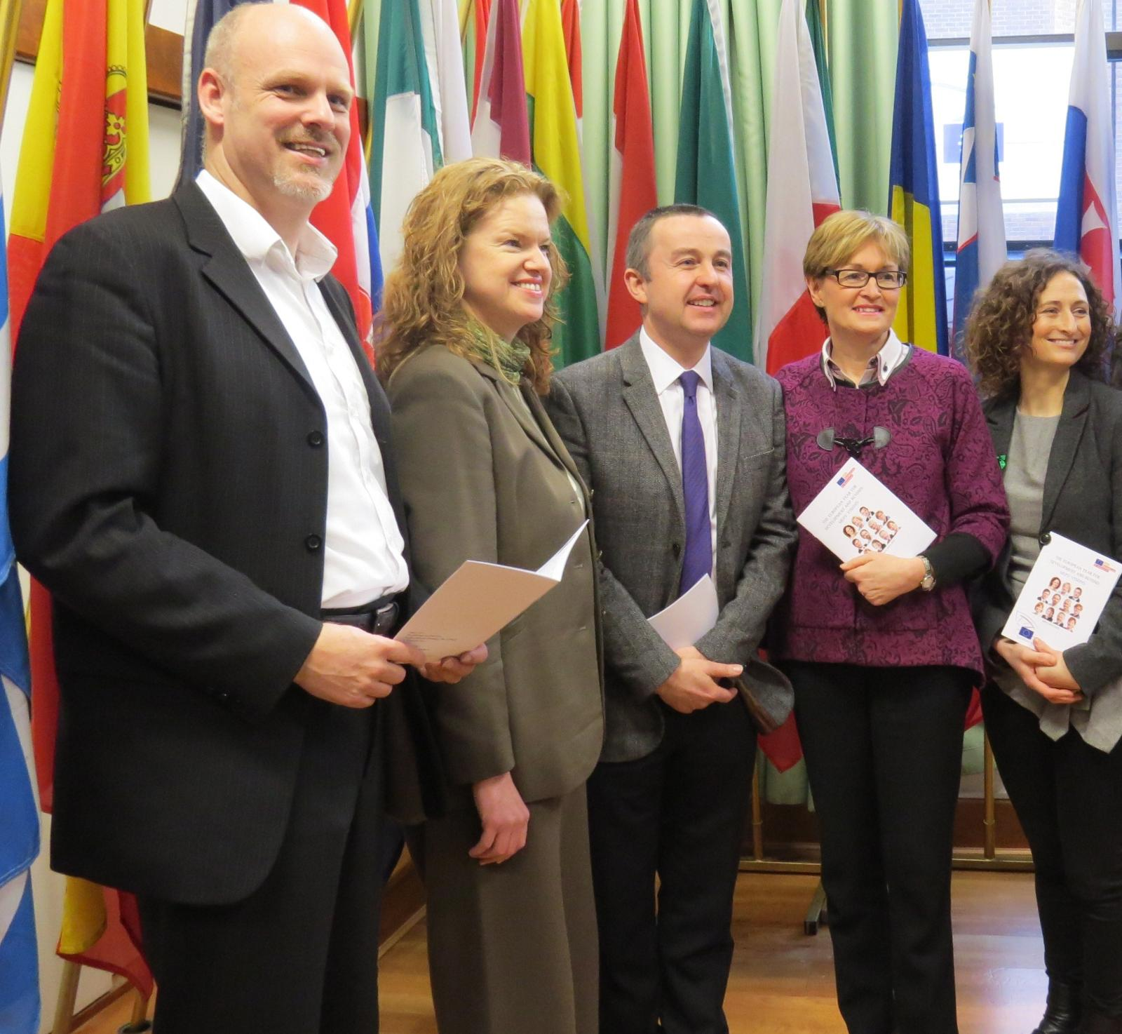 Left to Right:  Hans Zomer, Dóchas, Olive Towey, Concern Worldwide and MEPs Brian Hayes, Mairead McGuinness and Lynn Boylan