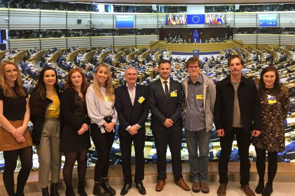 Journalism students from DCU in European Parliament