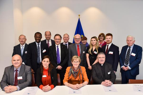 Delegation of Irish Council of Churches pictured with Mairead McGuinness, MEP in the European Parliament, Brussels