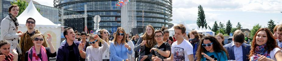 Young people at European Youth Event in Strasbourg
