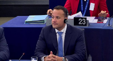 Taoiseach Leo Varadkar in European Parliament Strasbourg