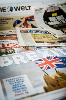 Brexit on front pages of newspapers
