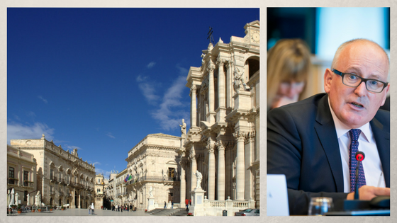 Siracusa, Piazza del Duomo (from Pixabay) - Frans Timmermans, © European Union 2017 - Source: EP.