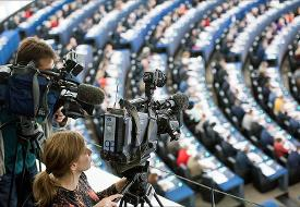 Immagine di fotografi e cineoperatori in Plenaria © European Union 2014 - European Parliament