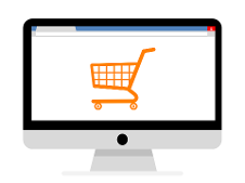 E-commerce, imagine carrello nel desktop