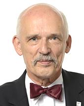headshot of Janusz KORWIN-MIKKE