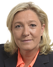 headshot of Marine LE PEN