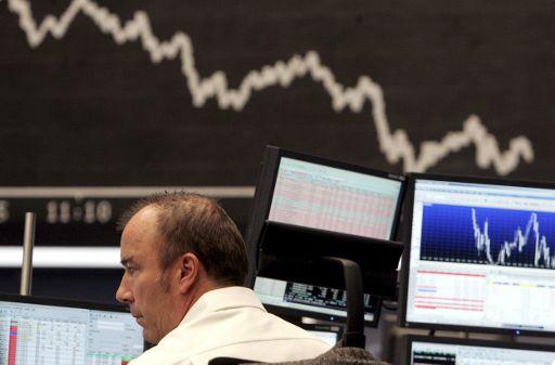 Pieţele financiare: încotro? un broker la bursă, Frankfurt, Germania, 23 ianuarie 2008 ©BELGA/EPA/FRANK MAY