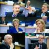 De Gucht, Füle, Jeleva, Reding, Šemeta in Almunia