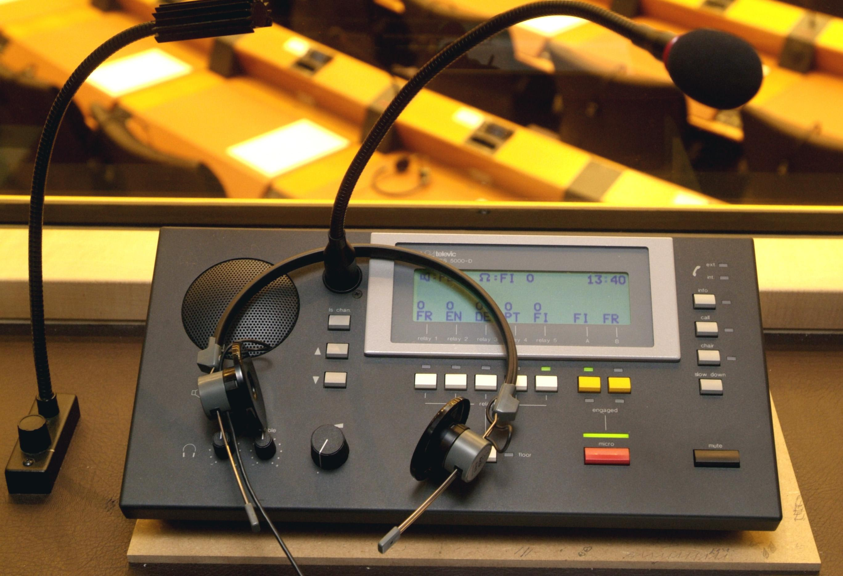 Console in an interpreting booth - © EP Photo Service