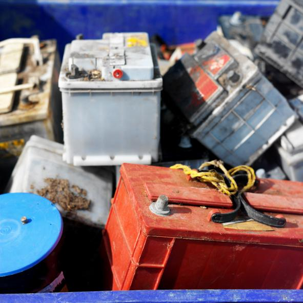 Heap of old batteries