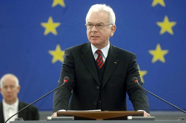 Hans-Gert Poettering during his inaugural speech as President of the EP