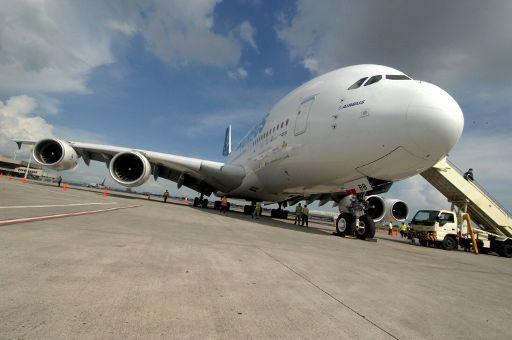 A picture of the Airbus A380 ©BELGA/AFP/Jay Directo