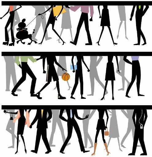 A draw of people walking in the strett ©BELGA/ILLUSTRA/John Telford