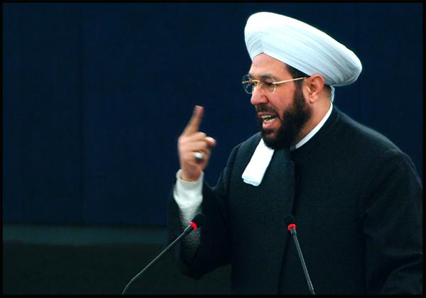Syria's Grand Mufti Ahmad Badr Al-Din Hassoun addresses MEPs in Strasbourg