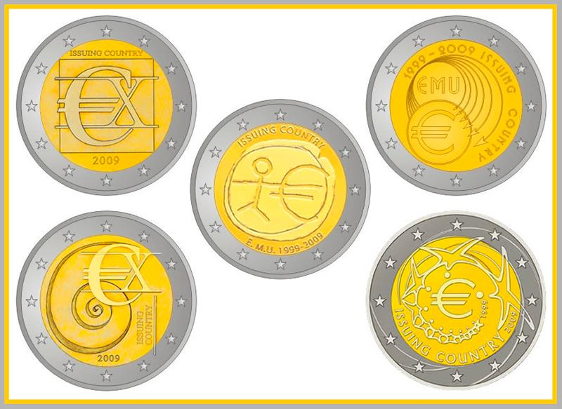 The euro coin in the middle of the phtoo will be the commemorative