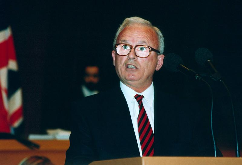 Adem Demaçi, writer, politician. Spent 32 years in prison fighting for the fundamental rights of the Albanians in Kosovo. Sakharov winner 1992