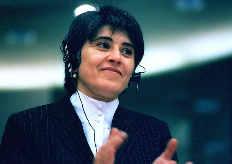 Leyla Zana, jailed Kurdish politician and defender of human rights. Honoured by MEPs in 1995