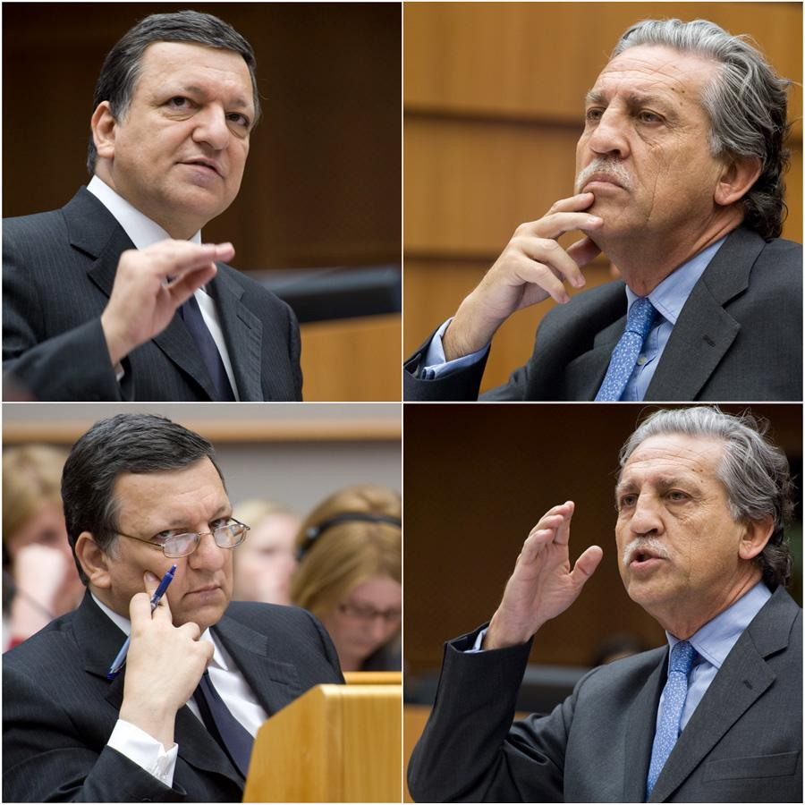 Euro debate: President of the Commission, Josè Manuel Barroso, and Spanish Secretary of State for the EU, Diego López Garrido, present to members their views about the EU Summit of Heads this Friday, 7 May.