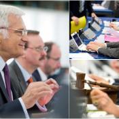 Talman Jerzy Buzek öppnar plenarsammanträdet