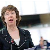 EU:s utrikesrepresentant Catherine Ashton under Gazadebatten