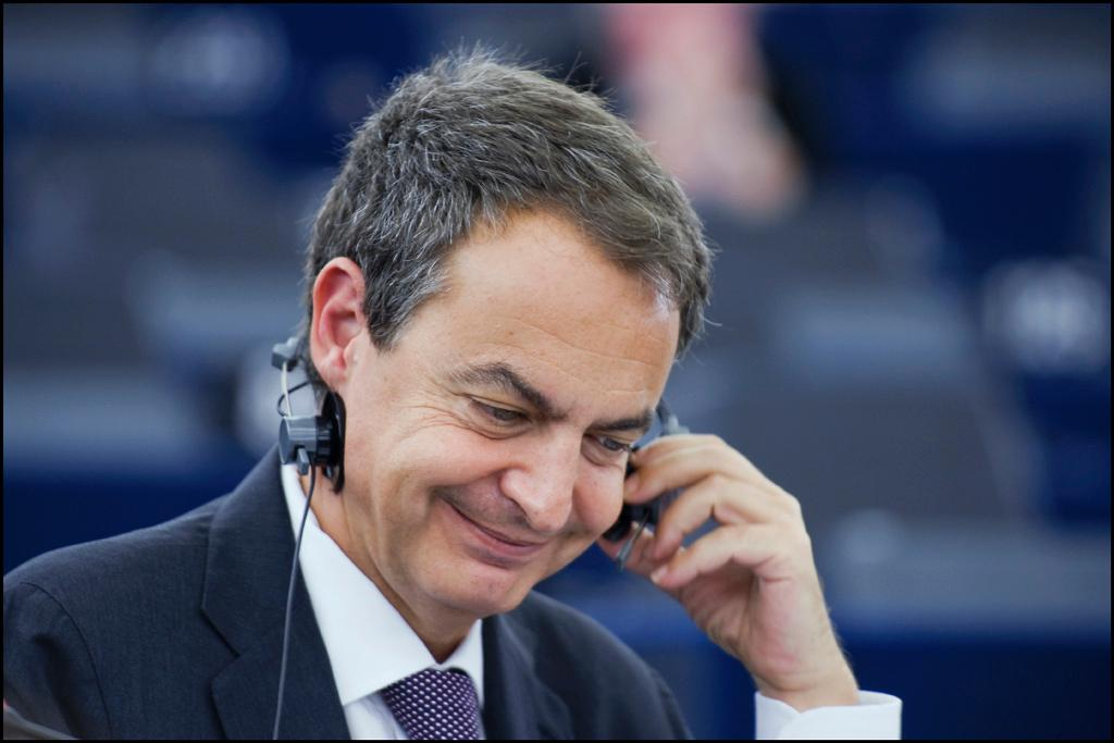 Spain's Prime Minister José Luis Rodríguez Zapatero at the European Parliament in Strasbourg, Tuesday 6 July