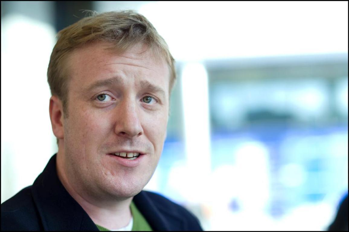 British blogger James Clive-Matthews, winner of the Parliament's online journalism prize