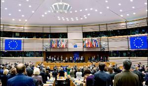 aula Parlamentului European din Bruxelles