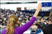 Voting in the European Parliament can be done either by voting or by MEPs raising their arms