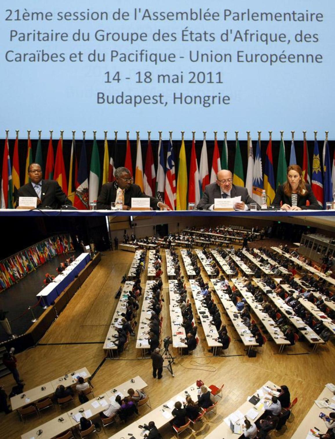 Versammlung der Abgeordneten aus EU Parlament und den AKP-Staaten