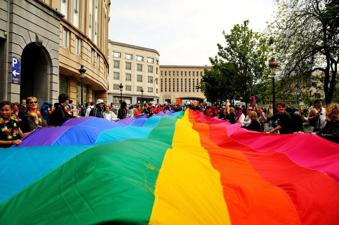 Parada împotriva homofobiei în Bruxelles, 15 mai 2011 ©www.flickr.com/esdanitoff