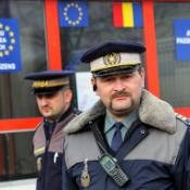 Romanian border police at Ungheni