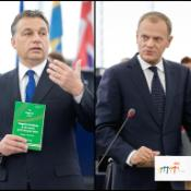 Hungarian PM Viktor Orbán and Polish PM Donald Tusk