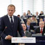 Polish PM Donald Tusk and EP President Jerzy Buzek ©EP Photo Service