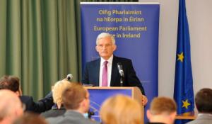 President Buzek speaking at the European Parliament Office in Dublin