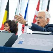 Mr Buzek in the plenary chamber