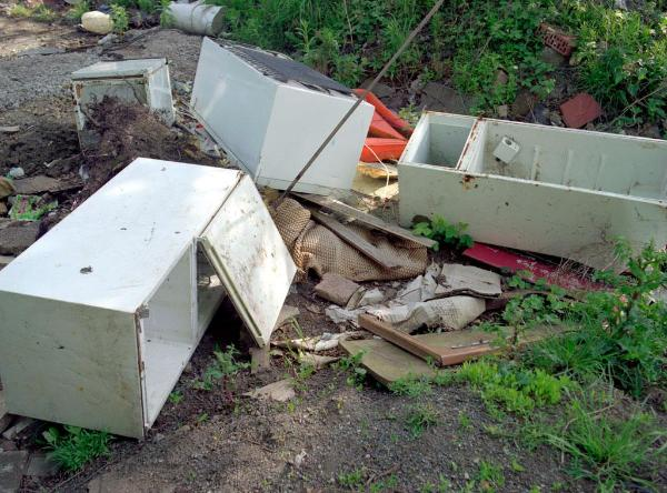 Old fridges - dumped ©BELGA/SCIENCE