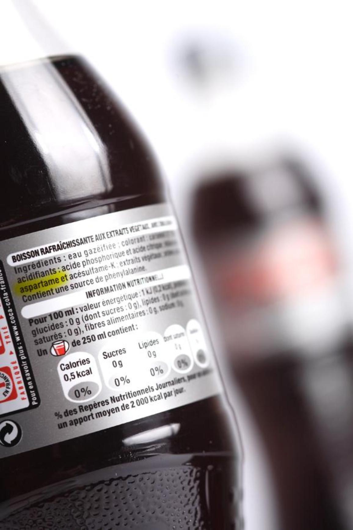 Etiquette sur une bouteille de Coca-Cola. ©BELGA/Belpress