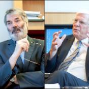 Proinsias De Rossa (S&D) och Bastiaan Belder (EFD)