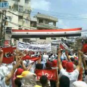 Syrians protesting in Latakia, Syria. ©BELGA/EPA