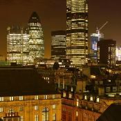 Skyline of the City of London at night ©BELGA_MOODBOARD