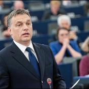 Victor Orban during the debate on Hungary