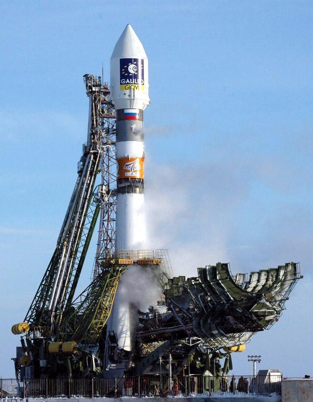 O δορυφόρος GIOVE-Α (Galileo In-Orbit Validation Element), η αρχή του συστήματος Galileo, έτοιμος για εκτόξευση ©ESA